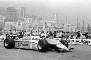 Alfa Romeo 182 Andrea De Cesaris Monaco GP 1982 action photo